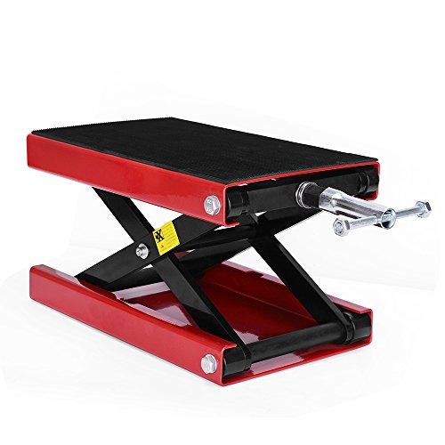 (YITAMOTOR Wide Deck Motorcycle Dilated Center Scissor Lift Jack Hoist Stand-1100 LB Capacity)
