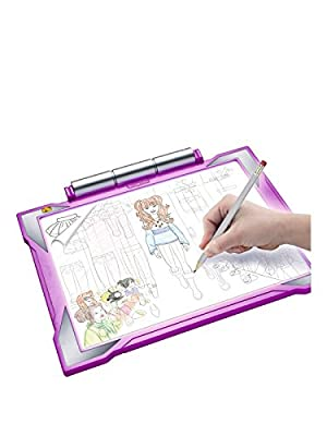 Crayola Light-Up Tracing Pad Activity Gift Set for Kids - Blue or Pink