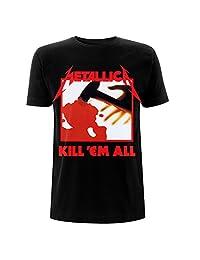 Metallica Kill 'Em All Tracklisting Whiplash Official Tee T-Shirt Mens Unisex