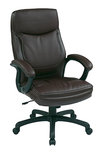 Office Star High Back Thick Padded Conto - Executive Burgundy Leather Shopping Results