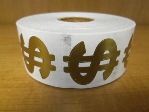 Perforated Dollar Sign Tanning Stickers, Roll of 1000 ()