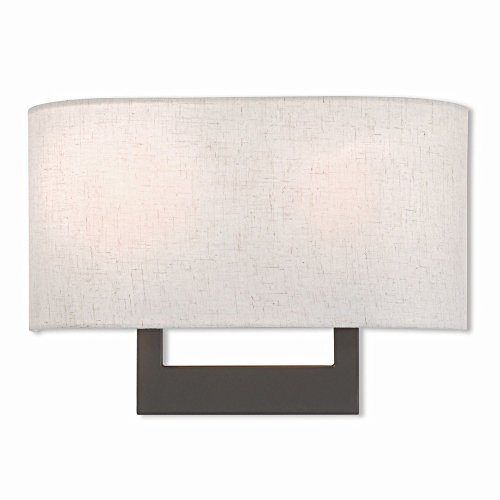 Modern Sconce Livex Lighting (Livex Lighting 42421-07 Wall Sconce, Bronze)