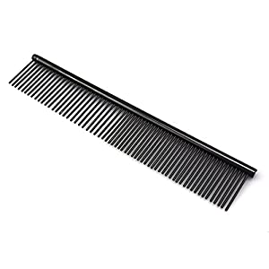 ZoCr Stainless Steel Pet Comb for Dogs Cats, Pet Grooming Comb with Different Spaced Rounded Teeth 2