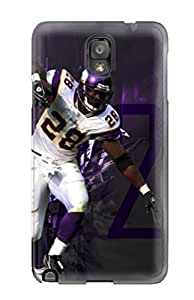 High Impact Dirt/shock Proof Case Cover For Galaxy Note 3 (adrian Peterson Football )