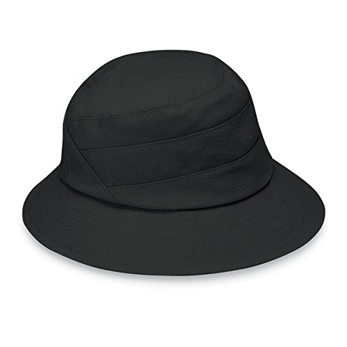 Wallaroo Hat Company Women's Taylor Sun Hat - UPF 50+, Adjustable, Ready for Adventure, Designed in Australia, Black