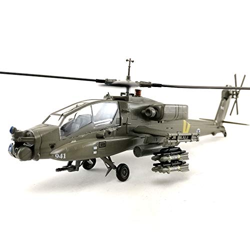 AH-64A Apache Helicopter 1/72 Scale Aircraft Model Collection Collectible Toy Hobby Assembled Mode