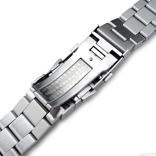 22mm Hexad Oyster 316L Stainless Steel Watch Band for Seiko SKX007, Wetsuit Ratchet Buckle by Seiko Replacement by MiLTAT (Image #6)