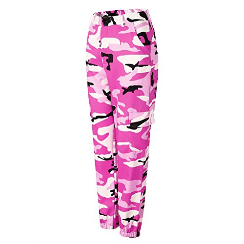 dei del per Hip pantaloni dei larghi casuali Hop pantalone di Pantaloni Rosa pantaloni Harem di Camo pantaloni del i di Harem qB7Fnwf5