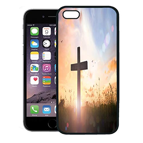 Semtomn Phone Case for iPhone 8 Plus case,Good for The Church Office Cross Symbol of Christian and Jesus Christ Friday iPhone 7 Plus case Cover,Black