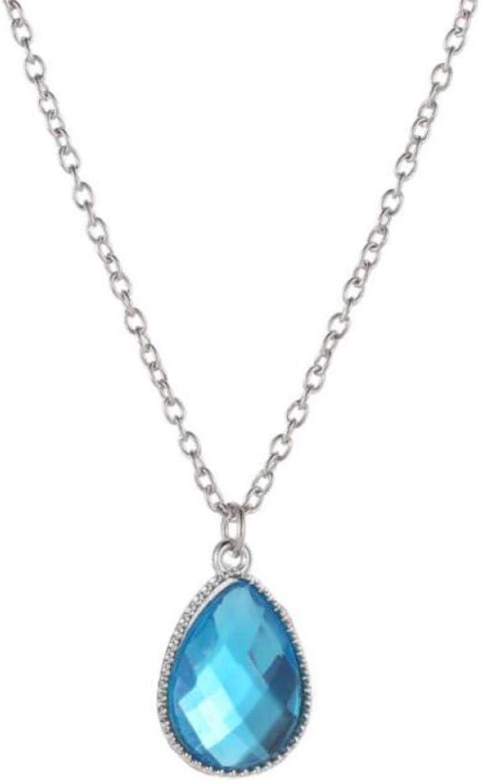 Collares Pendientes de Gota de Agua de Piedra Natural Charm Collar de Cristal de Color Dorado para Mujeres Accesorios de joyería de Moda sin Cuello
