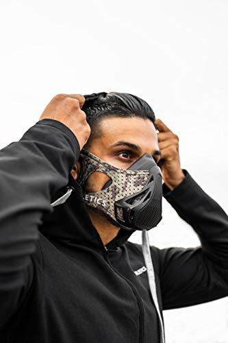 RUSH ATHLETICS Elevate Training Mask: Best for Elite Level Training - 24 Oxygen Levels - High Altitude Simulation Training - Cardio Endurance Mask Created & Sold (Military CAMO)