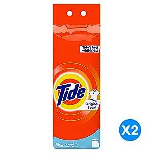 Tide Powder Laundry Detergent, Original Scent, 9 KG, Dual Pack