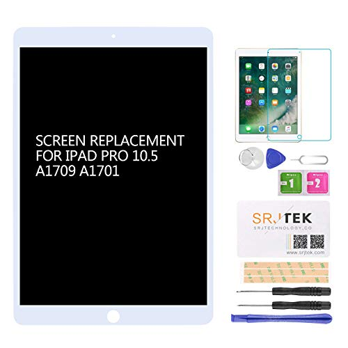 for iPad Pro 10.5 A1701 A1709 Screen Replacement LCD Display LCD Display Matrix Touch Screen Digitizer Tablet Assembly no Home Button EMC 3140 3141 by SRJTEK (Image #1)