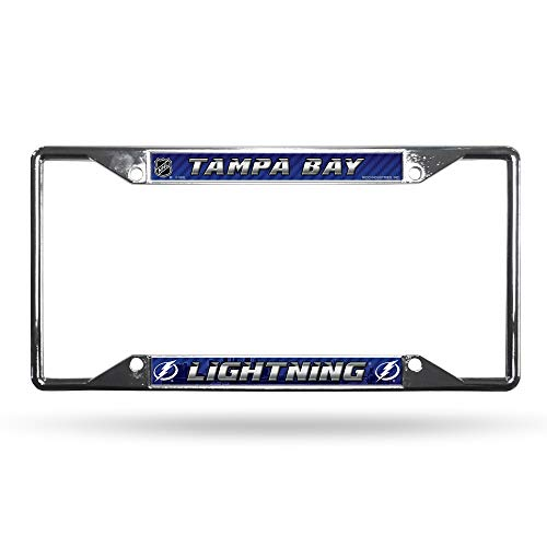 Rico Industries NHL Tampa Bay Lightning Easy View Chrome License Plate FrameNHL Easy View Chrome License Plate Frame, Silver, 12