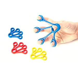 Finger Stretcher Hand Resistance Bands Hand Extensor Exerciser Finger Grip Strengthener Strength Trainer Gripper set for Arthritis Carpal Tunnel Exercise Guitar and Rock Climbing 3pcs(Extensor)