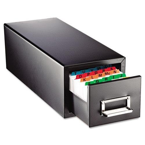 SteelMaster. Drawer Card Cabinet Holds 1,500 3 x 5 cards, 7 3/4 x 18 1/8 x 7 (263F3516SBLA) by STEELMASTER
