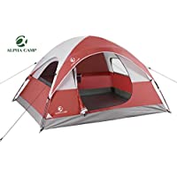 ALPHA CAMP 3 Person Dome Tent for Camping 3 Season...