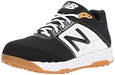 New Balance Men's 3000v4 Turf Baseball Shoe, Black/White, 5 D US