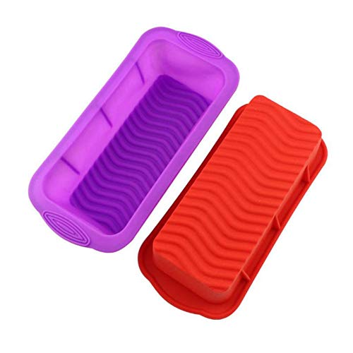 (1 piece Diy 3d Silicone Rectangular Shape Cake Mold Cake Mold Baking Tools Bakeware Maker 26127.5cm 1 Pcs LXW1668)