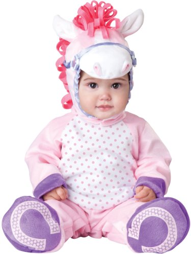 InCharacter Baby Girl's Pretty Pony Costume, Pink/White, Large