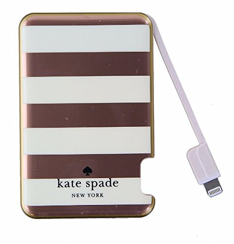Kate Spade New York Slim Portable Charger with Lightning Cable - Rose - Kate Rose Spade