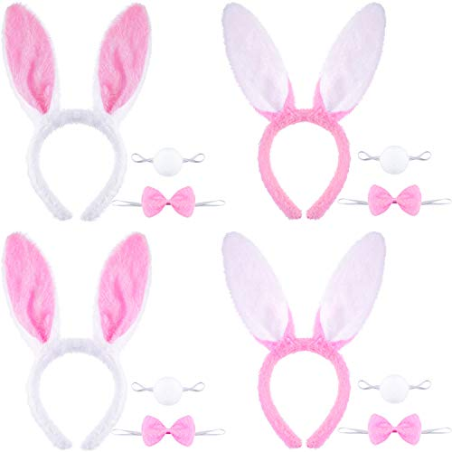 Zonon 12 Pieces Bunny Decoration Kit, Include Pink