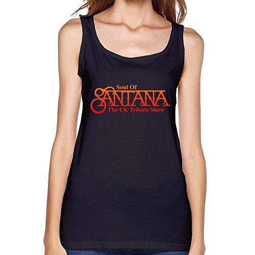 (Santana LOGO Women's Graphic Tanks,Black)