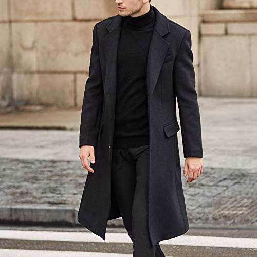 Largo Suit Gentleman Coat Collar Chaqueta QQWE De Black Negro Trench 4xp8WR5