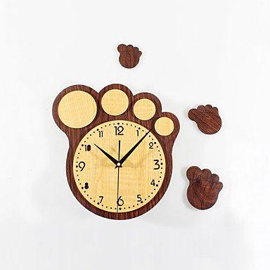 zhENfu Creativa moderna Cute dibujos animados pies grandes Imprimir Reloj de pared DIY Silencio,Peach: Amazon.es: Hogar
