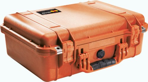 (Pelican 1500 Case With Padded Divider Set (Orange))
