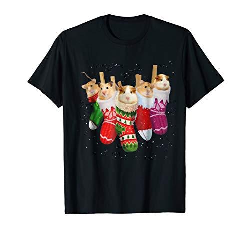 Hamster Christmas Socks Funny Shirts Xmas Vintage Cute -