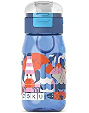 Zoku ZK202 Blue Kids Flip Gulp Bottle