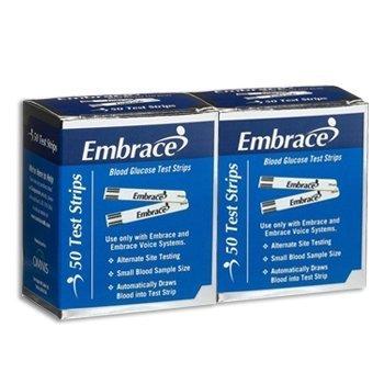 Omnis Health Embrace Blood Glucose Test Strips, 100ct (Test Strips Omnis)