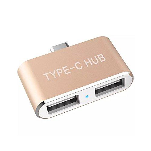 Kinkoo USB 3.1 USB-C to 2-Ports Reversible USB 2.0 Hub Ad...
