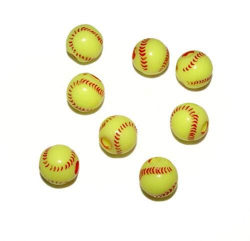 Beads - Bead Jewelry - Beads for Women Men - Cute - Softball 60 pcs -