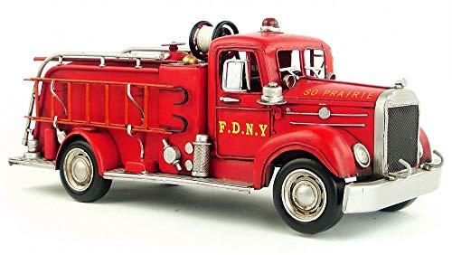 Antique Fire Engine - Retro Nostalgic Metal Art American fire Engine modelcar Crafts Creative Antique