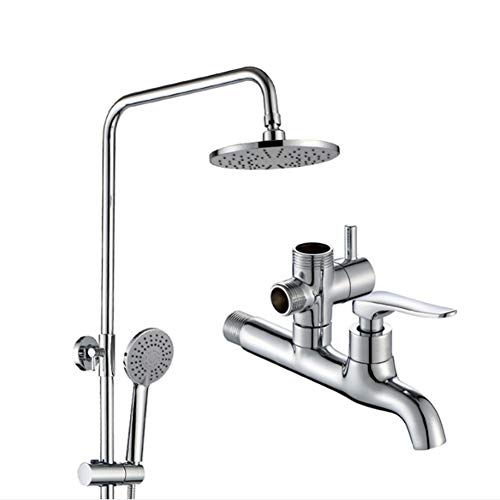 YYBFG-ShowerSet Shower Set Four-Stage Water Outlet Mode with a Bidet The Shower Rod can be Adjusted up and Down Chrome