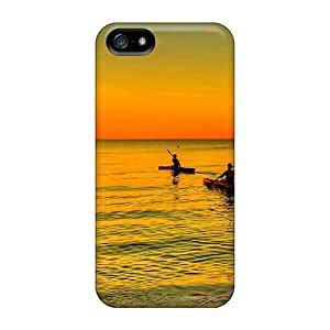 Fashion Tpu Case For Iphone 5/5s- Kayaking At Sunset Defender Case Cover