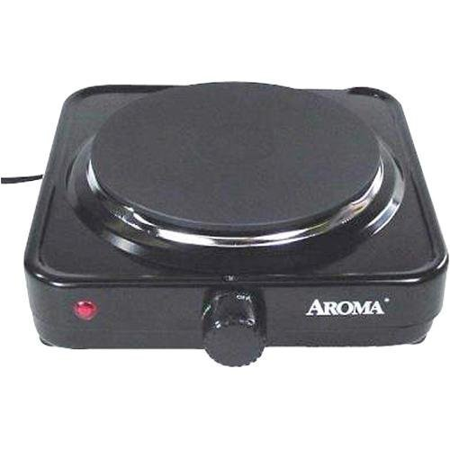 Aroma Housewares AHP-303/CHP-303 Single Hot Plate, Black by