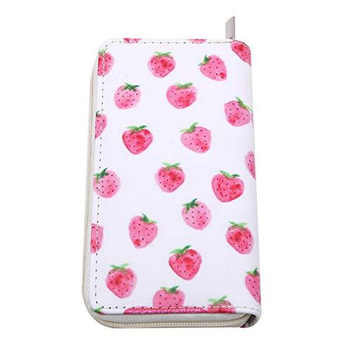 Women Fruit Flamingo Wallet PU Leather Handbag Coin Bag Capacity Clutch Purse QP (Model - #4)