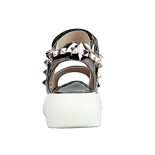 MJS03222 Firm Womens Cold Sandals Peep Ground Urethane Metallic Lining 1TO9 Toe 1ztwqf1