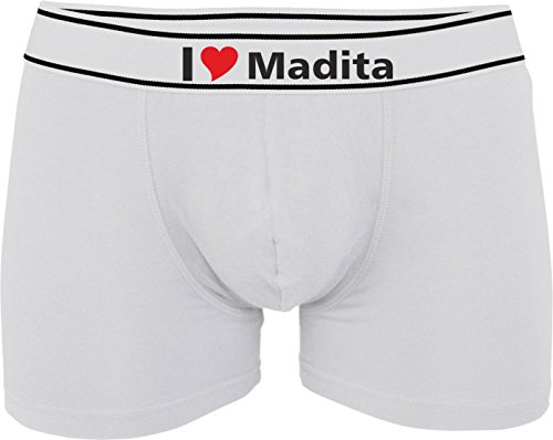 I Madita Personnalisable Avec Boxer Love Imprimé Weiß Homme Kariban Ou OqUCwpC