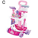 Quietcloud Interesting Toy Simulation Vacuum Cleaner Housework Simulation Vacuum Cleaner Kids Pretend Play Toy Plastic Cleaning Tool Toys for All Ages