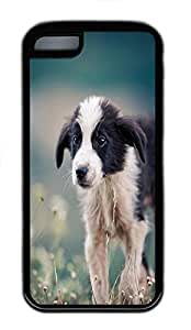 for iphone 5/5S Case Sad Puppy Animal TPU Custom for iphone 5/5S Case Cover Black