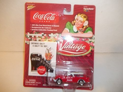 - Johnny Lightning White Lightning 1954 Corvette Nomad - #4 Coca-Cola Vintage Collector's edition 1:64 scale die-cast