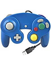 Reiso GC Style 1 Pack Classic USB Wired Controller Gamepad for Windows PC MAC(Blue)