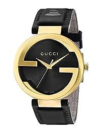 Gucci Men's YA133208 Interlocking GRAMMY Special Edition Black Watch