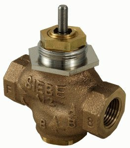 "Schneider Electric VB-7223-0-4-04 Series Vb-7000 Two-Way Globe Valve Body, Npt Threaded Straight Pipe End Connection, Stem Up Closed, Brass Plug, 1/2"" Port Size from Schneider Electric Buildings"