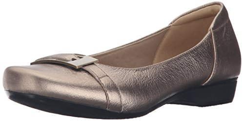 Dorado occidental Gold de Blanche mujer soporte Leather CLARKS de la Metálico Metallic z410xq