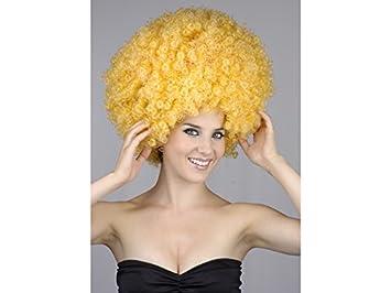 Peluca Adulto Afro Grande Amarilla